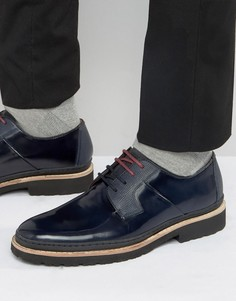 Кожаные темно-синие туфли дерби Ted Baker Oktibr - Синий
