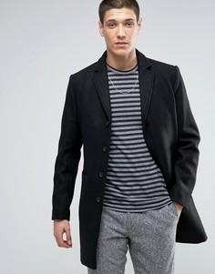 Пальто с добавлением шерсти Selected - Черный
