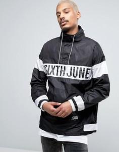 Куртка-дождевик через голову Sixth June - Черный