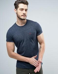 Темно-синяя узкая футболка с логотипом на кармане Jack Wills Ayleford - Темно-синий