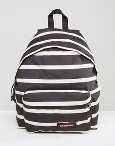 Уплотненный черный рюкзак в полоску Eastpak PakR - Черный