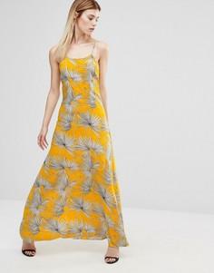 Платье макси с принтом AX Paris - Желтый