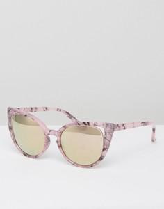 Солнцезащитные очки кошачий глаз ASOS - Розовый