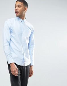 Оксфордская рубашка классического кроя на пуговицах United Colors of Benetton - Синий