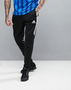 Черные джоггеры скинни с логотипом adidas Tango AZ9728 - Черный