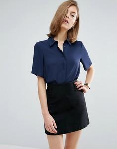 Укороченная блузка с короткими рукавами ASOS - Розовый