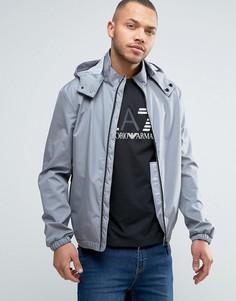 Серая непромокаемая куртка со съемным капюшоном Armani Jeans - Серый