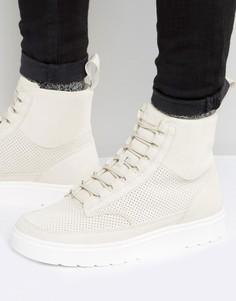 Высокие замшевые кроссовки Dr Martens Kamar - Бежевый