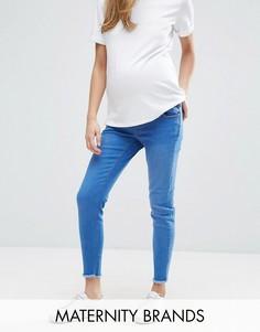 Зауженные джинсы с посадкой над животом New Look Maternity - Синий