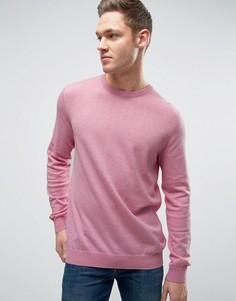 Свитшот с меланжевой отделкой Esprit - Розовый