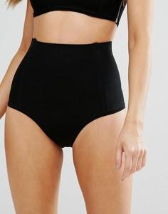 Плавки бикини в бандажном стиле с завышенной талией Missguided - Черный