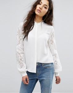 Рубашка с вышивкой Vila - Белый