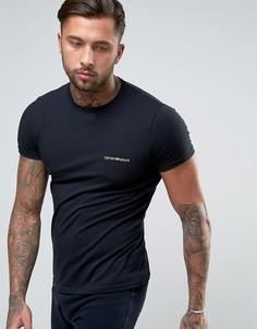 Обтягивающая футболка с логотипом Emporio Armani - Черный