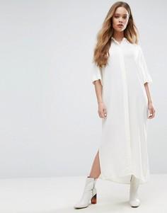 Платье-рубашка макси Samsoe & Samsoe - Белый