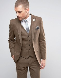 Твидовый пиджак с добавлением шерсти Harry Brown - Рыжий