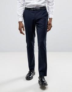 Узкие строгие брюки Selected - Темно-синий