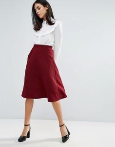Трапециевидная юбка Unique 21 - Красный
