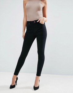 Черные джинсы скинни с завышенной талией ASOS Ridley - Черный