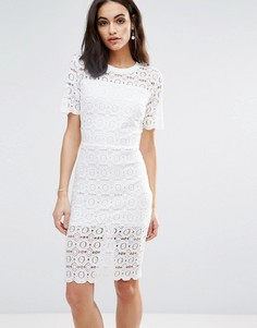 Платье с цветочным кружевом Liquorish - Кремовый