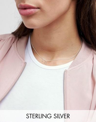 Серебряное ожерелье-чокер с подковой ASOS - Серебряный