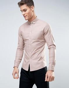 Розовая оксфордская рубашка скинни на каждый день ASOS - Розовый