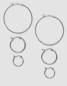 Набор серег-колец Pieces Belinda - Серебряный