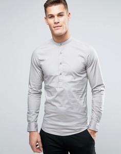 Приталенная рубашка Only & Sons - Серый