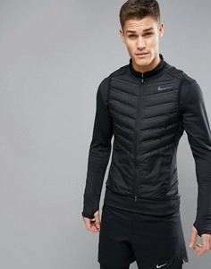Черный дутый жилет Nike Running Aeroloft 800497-010 - Черный