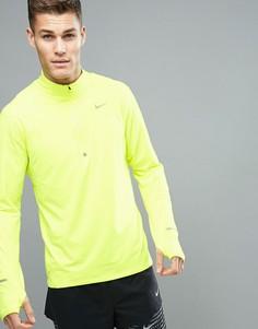 Желтый свитшот с горловиной на молнии Nike Running 683485-702 - Желтый