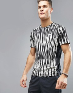 Серая футболка для бега Nike Dri-FIT Miler 833598-042 - Серый