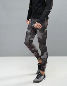 Черные леггинсы для бега с камуфляжным принтом New Look - Черный