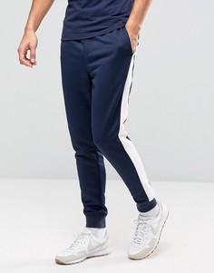 Темно-синие спортивные штаны с полосой по бокам Hilfiger Denim - Темно-синий