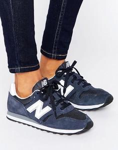 Темно-синие кроссовки New Balance 373 - Синий