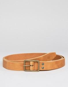 Светло-коричневый кожаный ремень Minimum - Рыжий