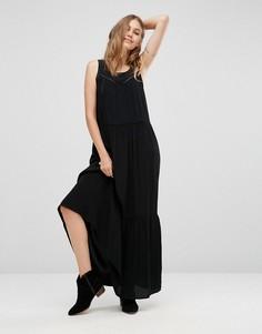 Платье макси с сетчатыми вставками Maison Scotch - Черный