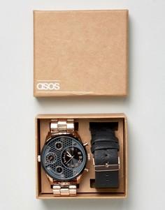 Наручные часы со сменным ремешком ASOS - Черный