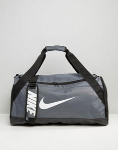 Серая сумка Nike Medium Brasilia BA5334-064 - Серый