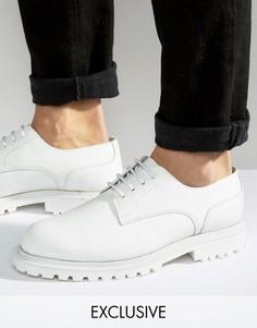 Кожаные туфли дерби Hudson London эксклюзивно для ASOS - Белый