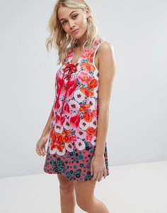 Неопреновое платье с цветами Clover Canyon - Мульти
