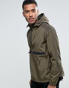 Куртка через голову с капюшоном цвета хаки ASOS - Зеленый