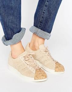 Телесные кроссовки в стиле 80-х с пробковой отделкой носка adidas Originals - Розовый