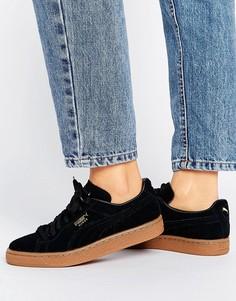 Черные замшевые кроссовки Puma - Черный