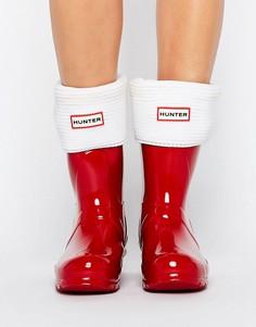 Толстые носки с манжетами Hunter - Кремовый