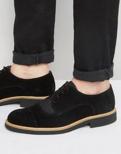 Замшевые туфли на шнуровке Selected Homme Noah - Черный