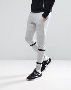 Спортивные штаны скинни с полосками Jack & Jones Core - Серый