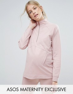 Свитшот ASOS Maternity LOUNGE - Розовый