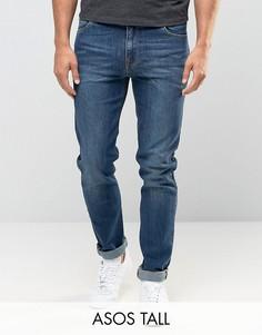 Темные джинсы скинни ASOS TALL - Синий