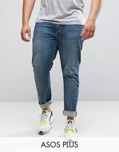 Синие выбеленные джинсы скинни ASOS PLUS - Синий