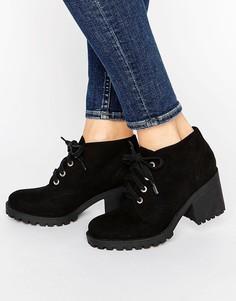 Ботинки на шнуровке с люверсами London Rebel - Черный