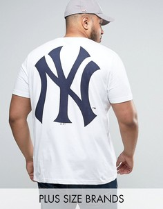 Удлиненная футболка Majestic PLUS New York Yankees - Белый